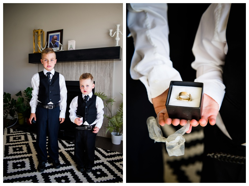 Ring Bearers - Calgary Wedding Photographer