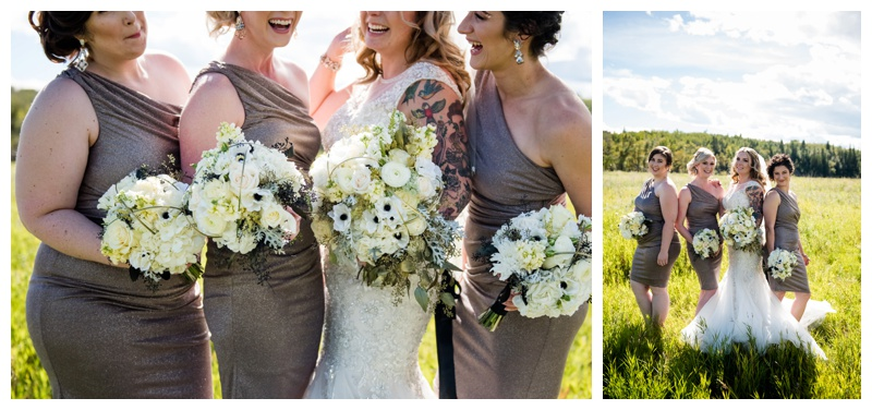Rose Gold Bridesmaid Dresses - Calgary Wedding