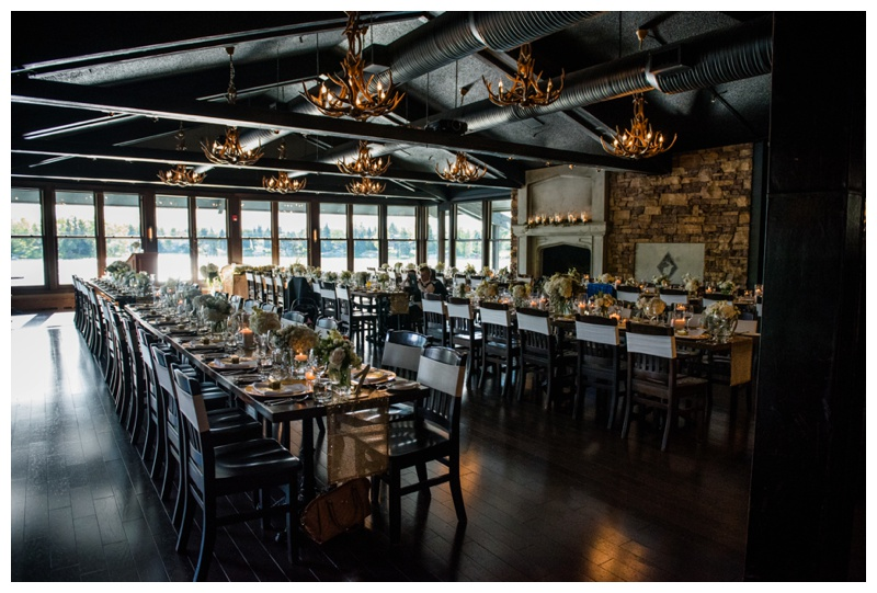The Lake House Calgary Wedding Reception
