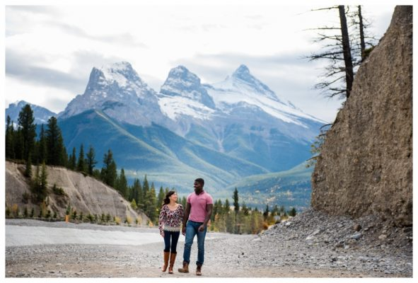 Canmore Cougar Creek Engagement Session  – Canmore Engagement Photographer