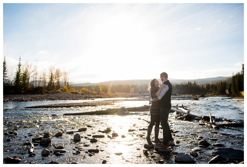 Elbow River Engagement Session Alberta