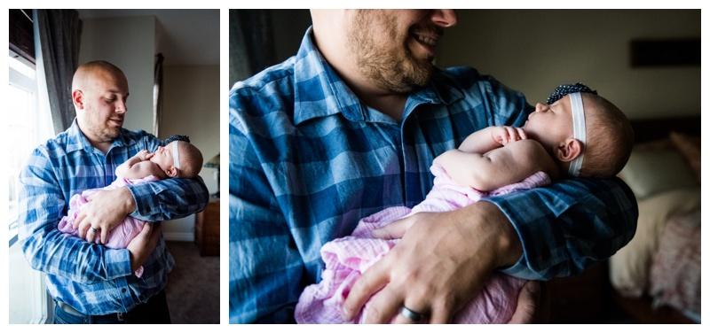 Dad & Baby Newborn Photos Calgary