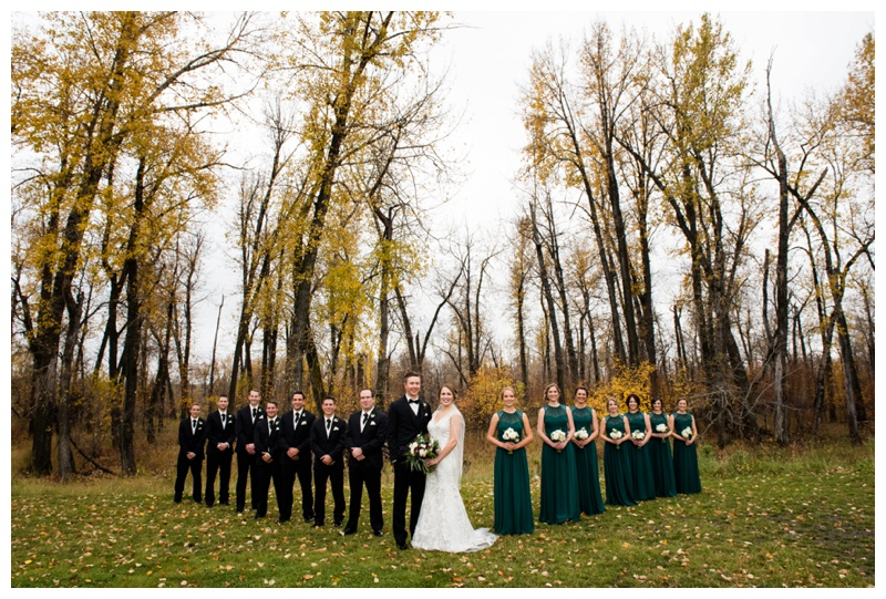 Fall Wedding Party Photos Calgary