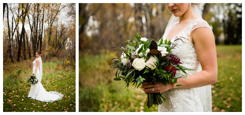 Fall Bridal Photos Calgary