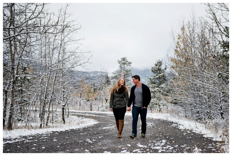 Winter Kananaskis Engagement Photography