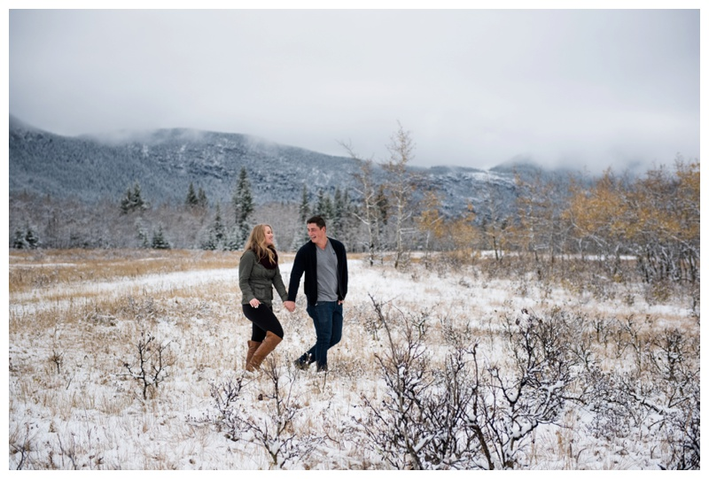 Winter Rocky Mountain Engagement Session