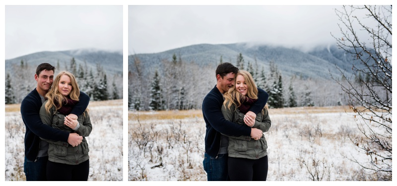 Snowy Kananaskis Engagement Photos