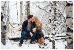 Winter Kananaskis Engagement Photography – Johnny & Bobbi