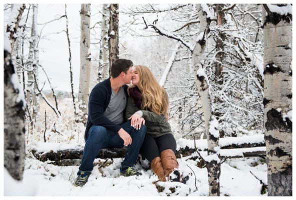 Winter Kananaskis Engagement Photography – Johnny & Bobbi