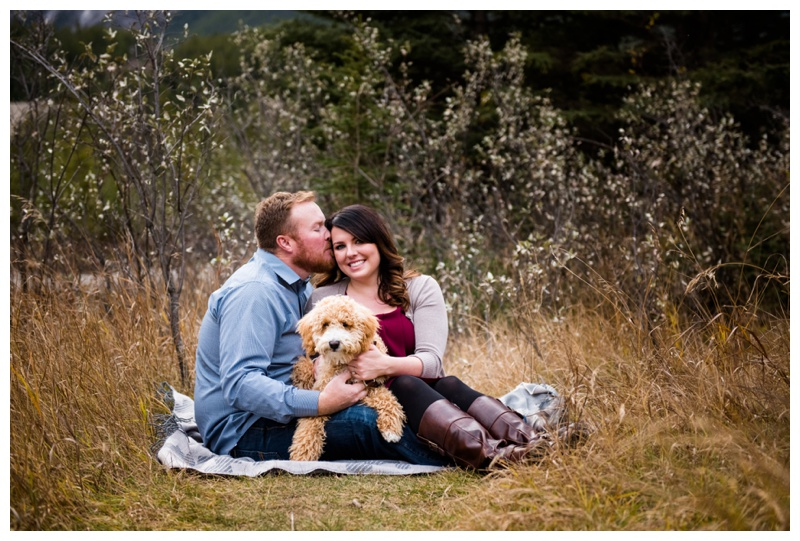 Labradoodle In Engagement Photos