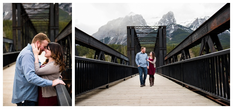 Canmore Bridge Engagement Photos