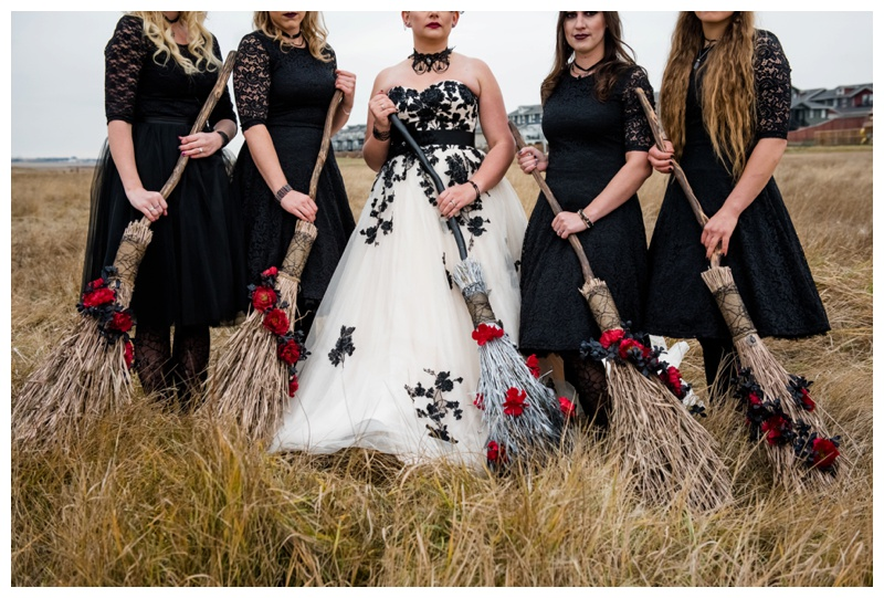 Witches Instead of Bridesmaids in Wedding