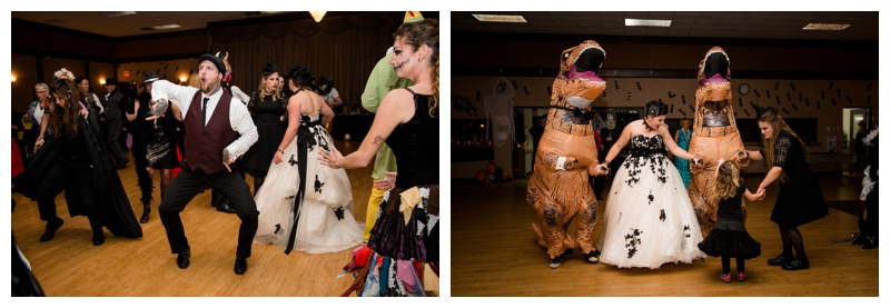 Halloween Wedding Reception Photos