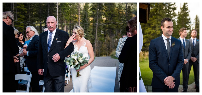 Outdoor Silvertip Resort Wedding Ceremony