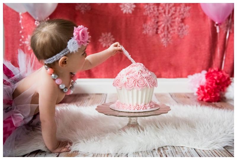 Girlie Winter Cake Smash Session
