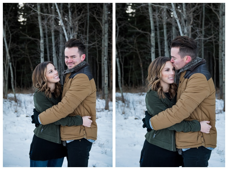 Winter Couple Photos Calgary
