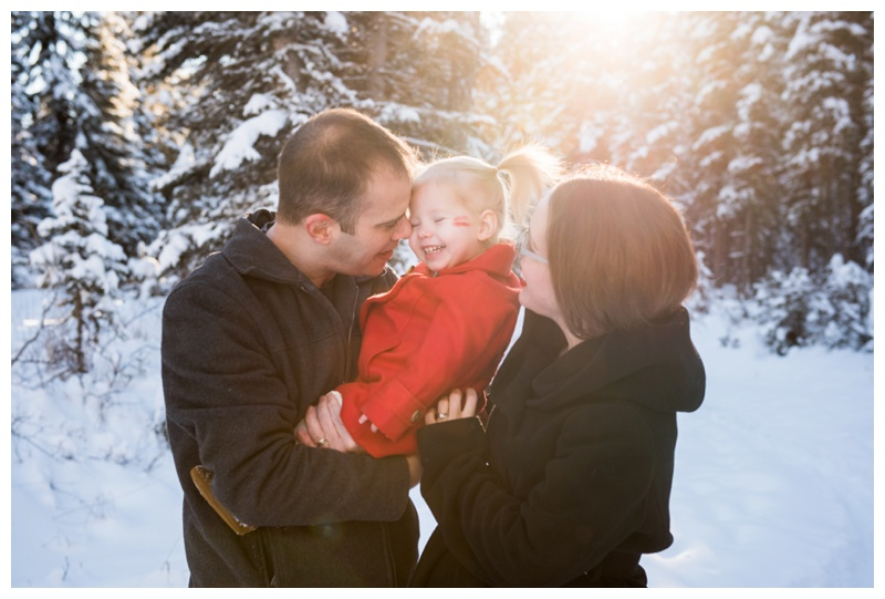 Winter Family Photography Bragg Creek