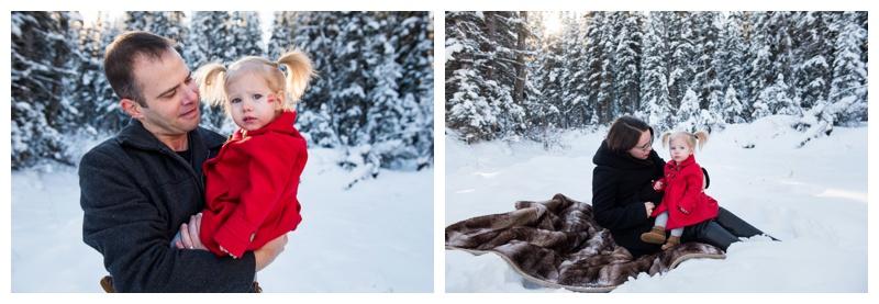 Winter Family Photos Calgary Alberta