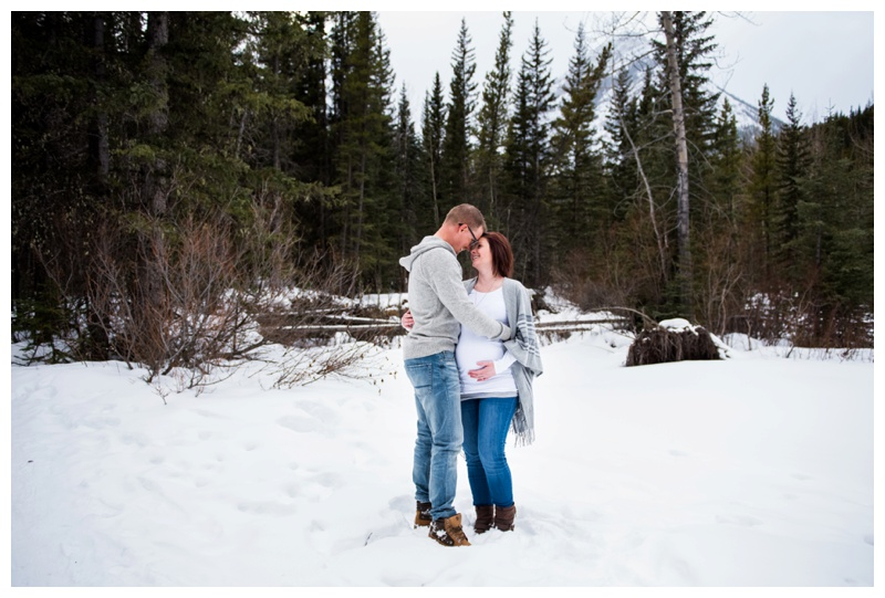 Winter Maternity Photography Calgary