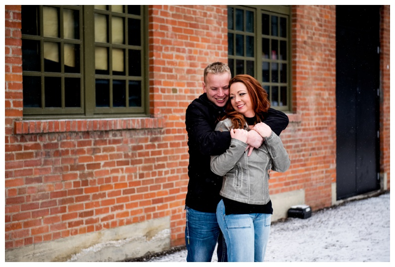 Simmons Building Engagement Photography Calgary