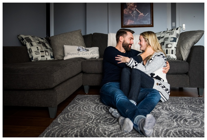 At Home Couple Photographer Calgary