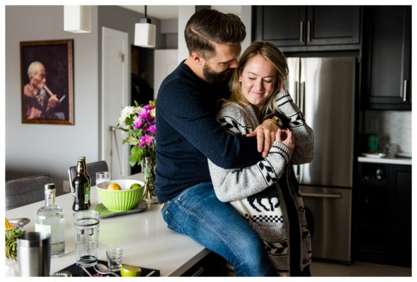 Calgary In Home Couple Session – Calgary Photographer