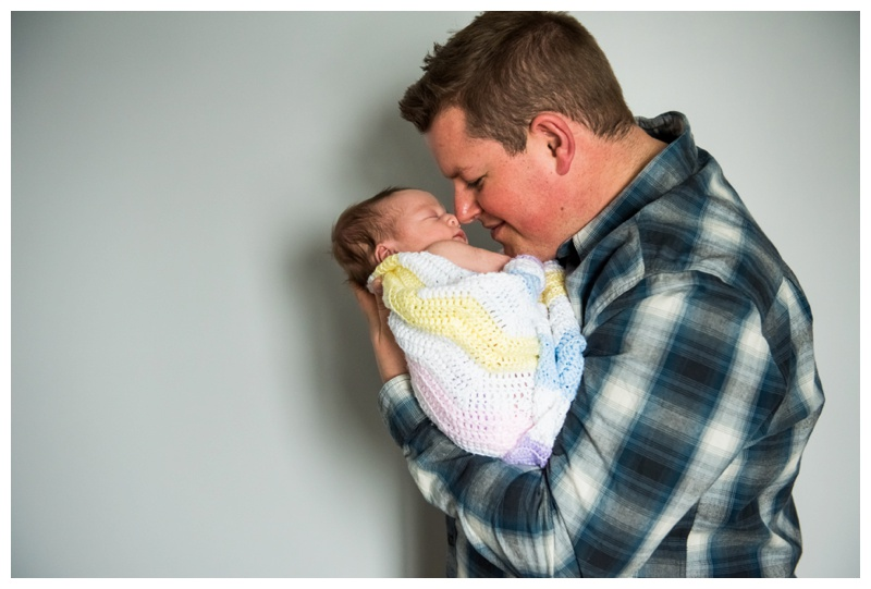 Father & Daughter Newborn Photography