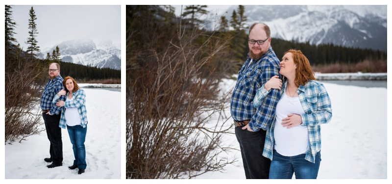 Three Sisters Canmore Maternity Session