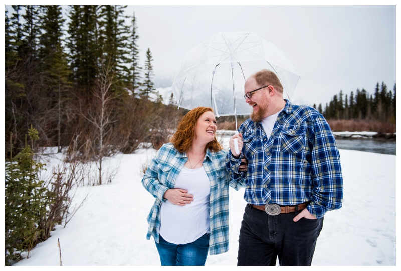 Winter Maternity Photography Canmore
