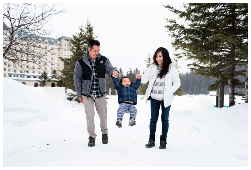 Winter Family Photos Banff