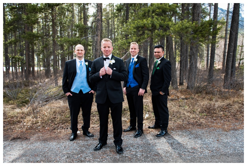 Canmore Groomsmen Photos