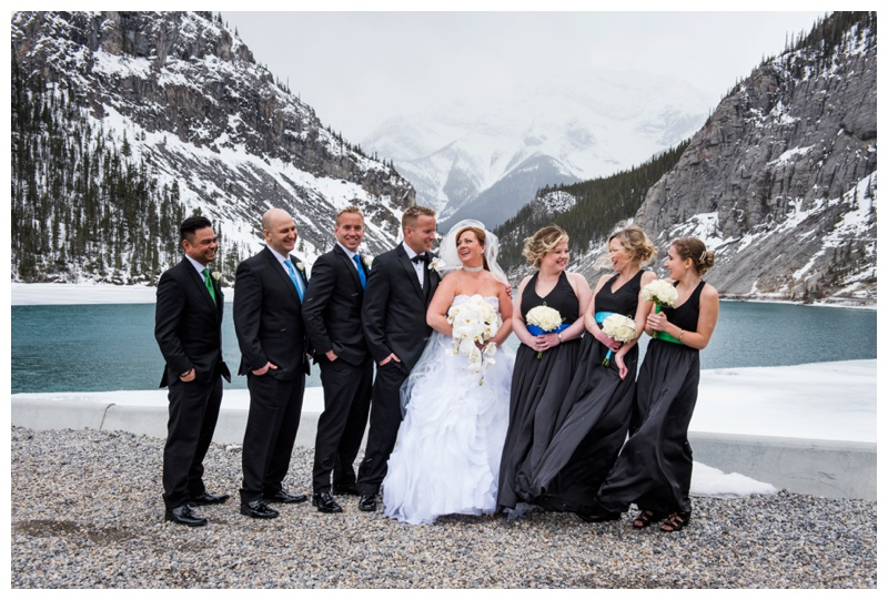 Canmore Wedding Party Photography