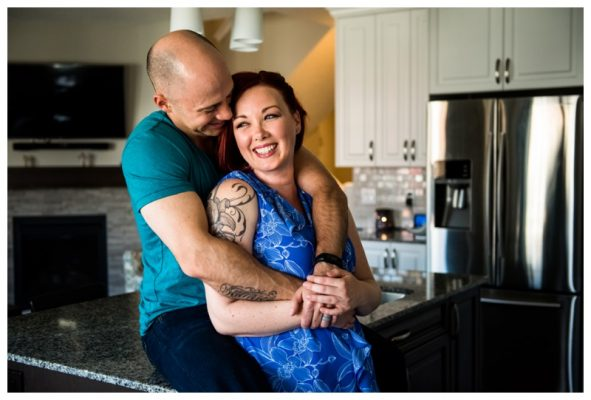 Airdrie In Home Couple Session | Sandra & Scott | Calgary Couple Photographer