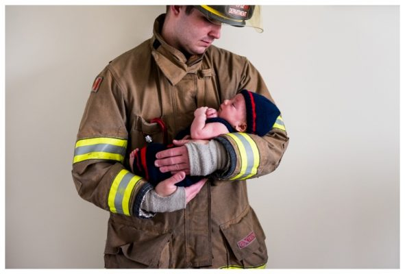 Calgary Firefighter Newborn Photography – Calgary Newborn Photographer