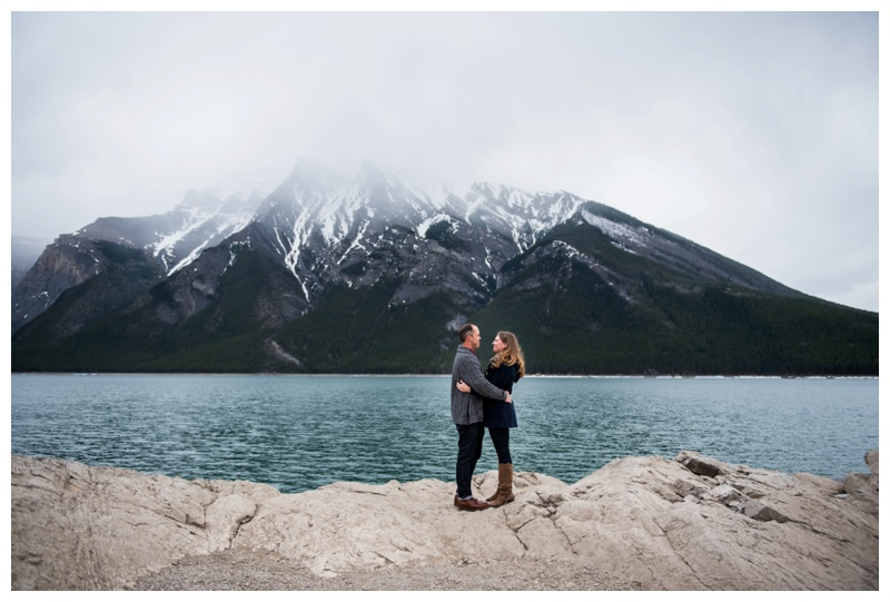 Lake Minniwanka Engagement Photos