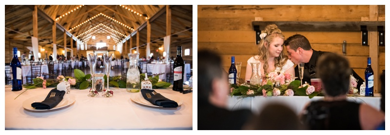 Wedding Recepton - WIllow Lane Barn