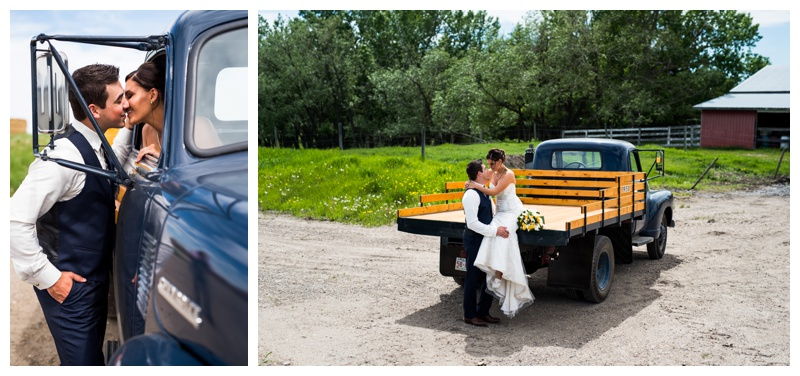 Antique Truck Wedding Photos Calgary