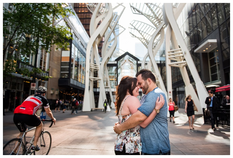 Calgary Downtown Engagement Photos