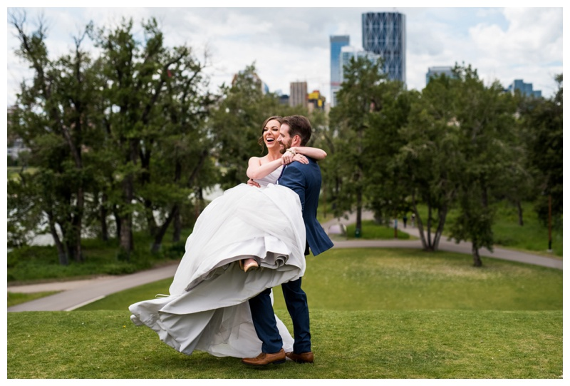 Calgary Downtown Park Wedding Photos
