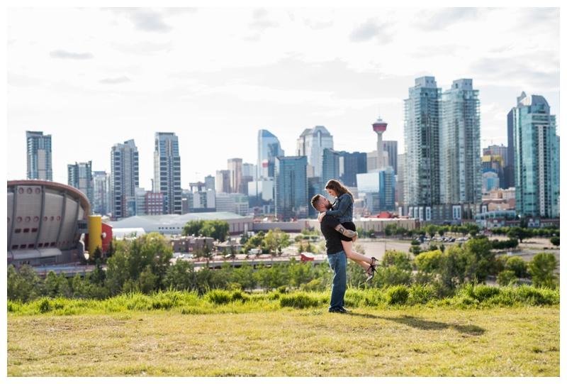 Calgary Skyline Engagement Photos