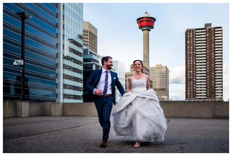 Calgary Tower Wedding Photography