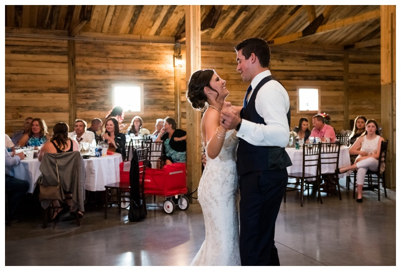 First Dance Willow Lane Barn
