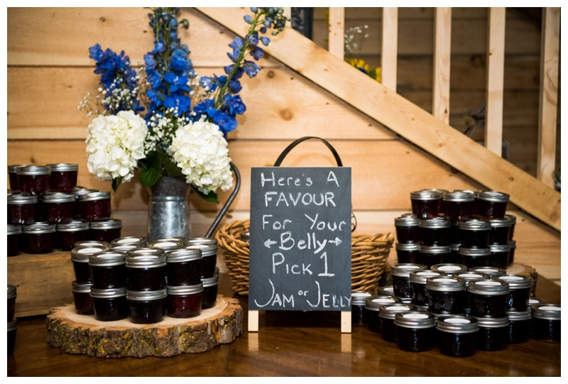 Homemade Jam Wedding Favors - Calgary Wedding