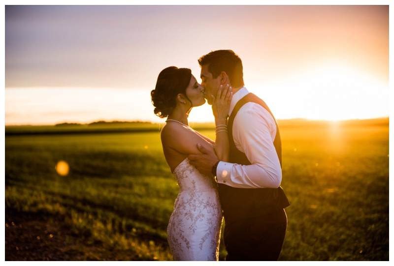 Sunset Wedding Photography Calgary Alberta