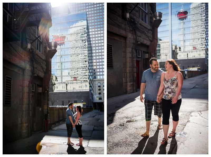 Urban Calgary Engagement Photography