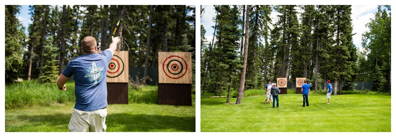 Axe Throwing - Azuridge Wedding