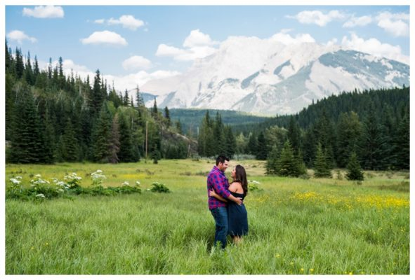 Banff Summer Engagement Photos | Brandon & Erica | Banff Wedding Photographer