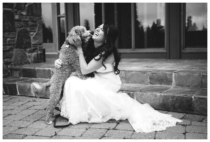 Bride & Dog Wedding Photography Calgary