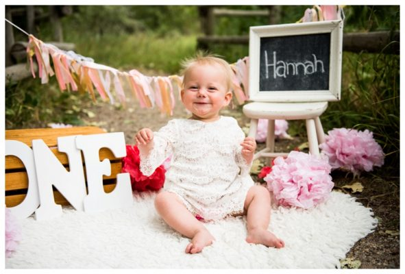 Pearce Estate Park 1st Birthday Photos | Hannah Is One! | Calgary Children's Photographer