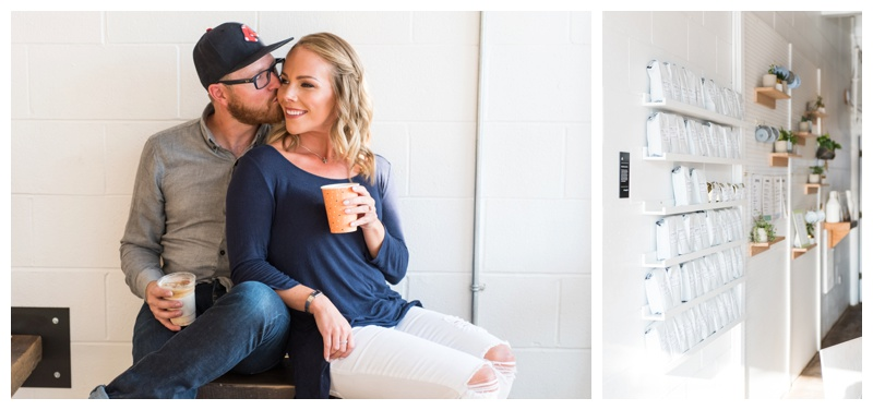 Calgary Coffee Shop Engagement Photos - Monogram Coffee